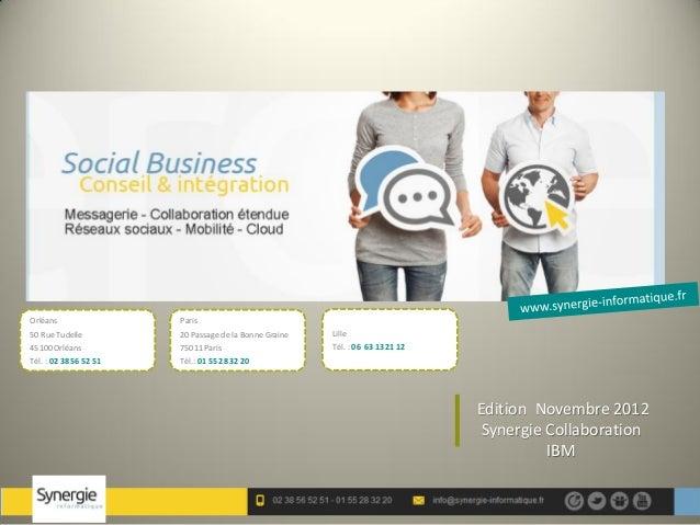 Synergie collaboration nov2012 ibm