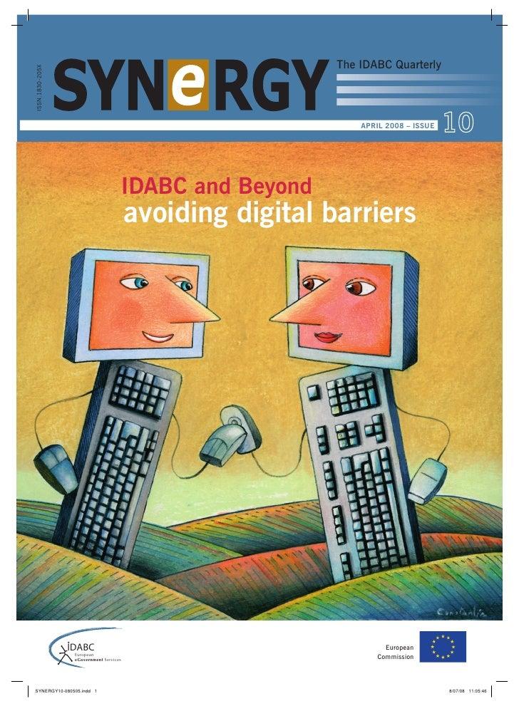 The IDABC Quarterly ISSN.1830-205X                                                                                        ...
