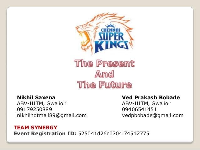Nikhil Saxena ABV-IIITM, Gwalior 09179250889 nikhilhotmail89@gmail.com  Ved Prakash Bobade ABV-IIITM, Gwalior 09406541451 ...