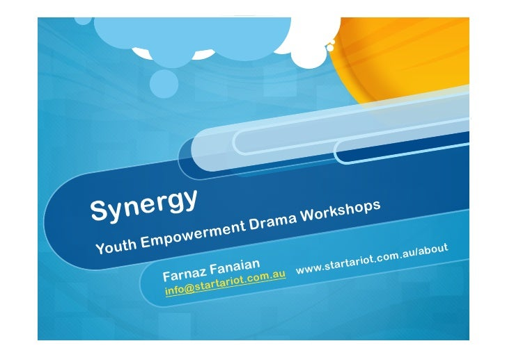 Synergy Youth Empowerment Drama Workshops