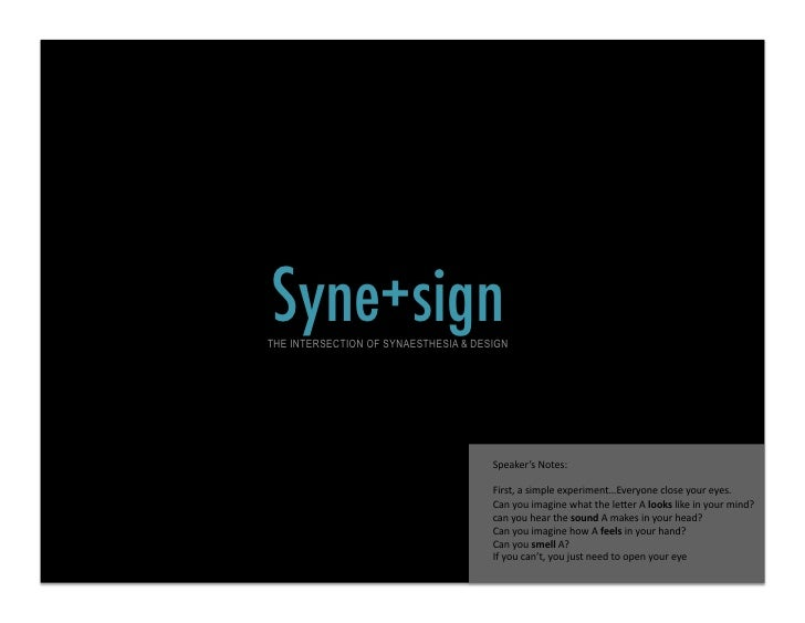 Synesign - The Intersection of Synaesthesia & Design