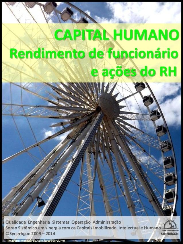 CAPITAL HUMANO  Rendimento de funcionário  e ações do RH  Qualidade Engenharia Sistemas Operação Administração  Senso Sist...