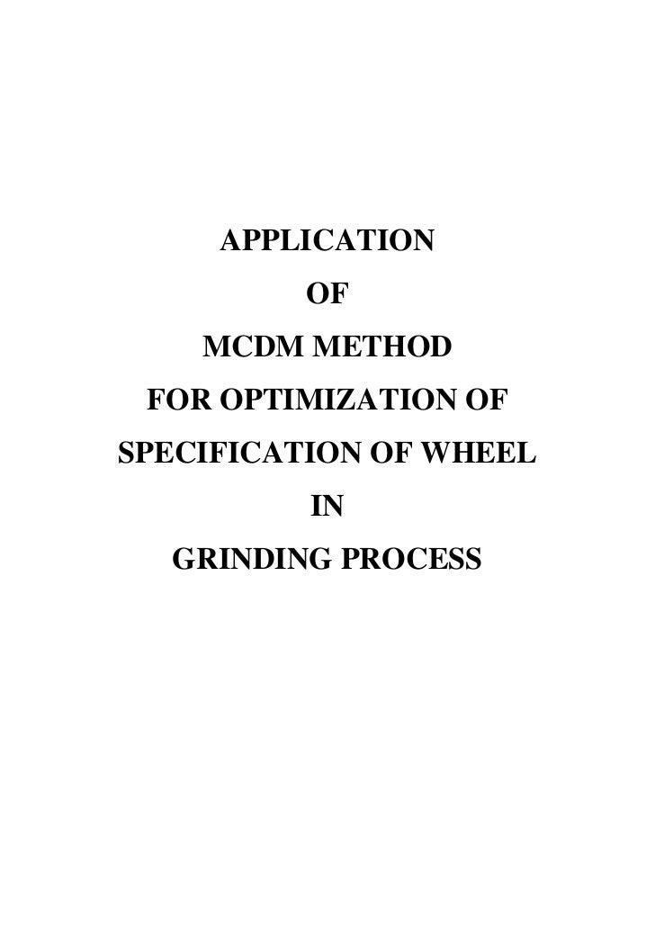 mcdm method