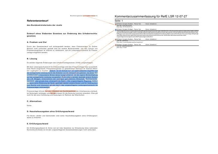 Referentenentwürfe 27.07./13.06. - Synopse