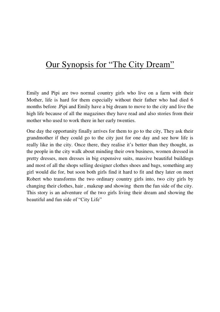 Synopsis Of The City Dream