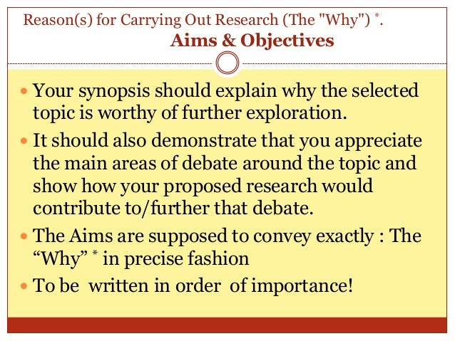 How to write dissertation synopsis