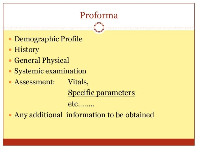 Dissertation Proforma