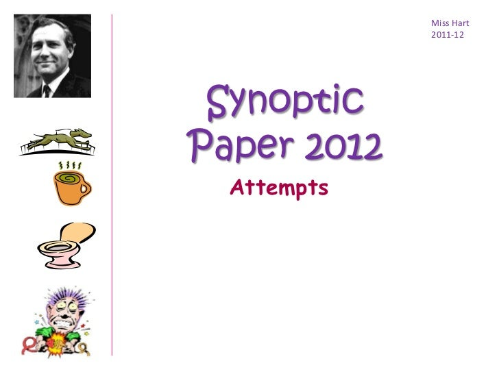 Miss Hart             2011-12 SynopticPaper 2012  Attempts