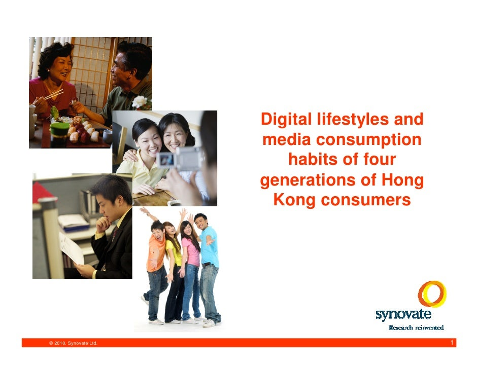 eCMO 2010 Digital lifestyles and media consumption habits of four generations of Hong Kong Consumers