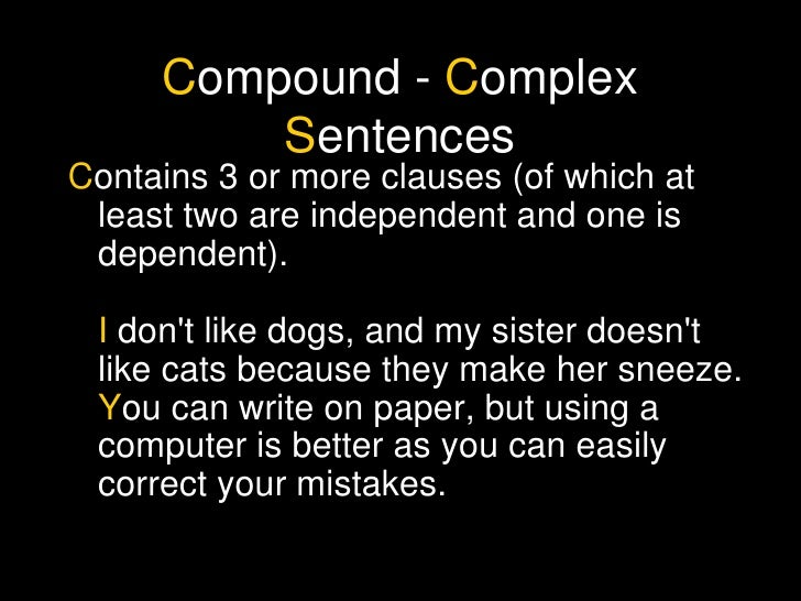 What is the difference of simple syntax and complex syntax?