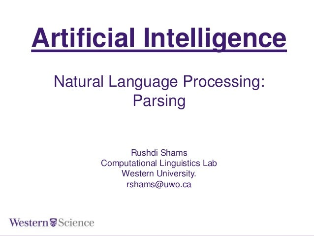 Natural Language Processing: Parsing