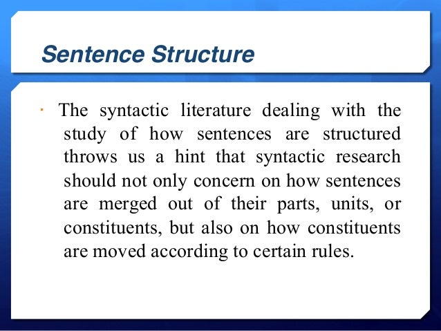 Is this a well-structured sentence?