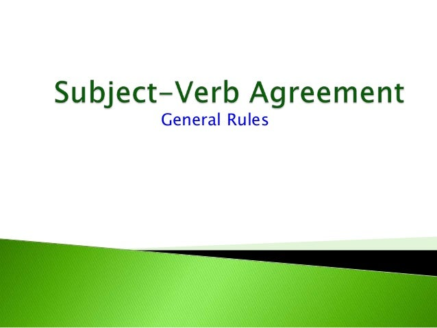 Syntax iv  subject-verb agreement