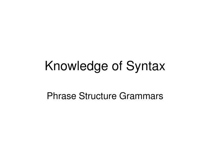 Syntax & Stylistics 2