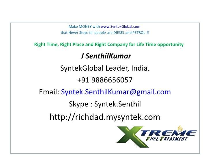 SyntekGlobal (Senthil +91 9886656057)