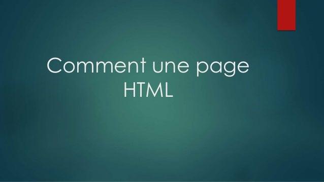 Comment une page HTML