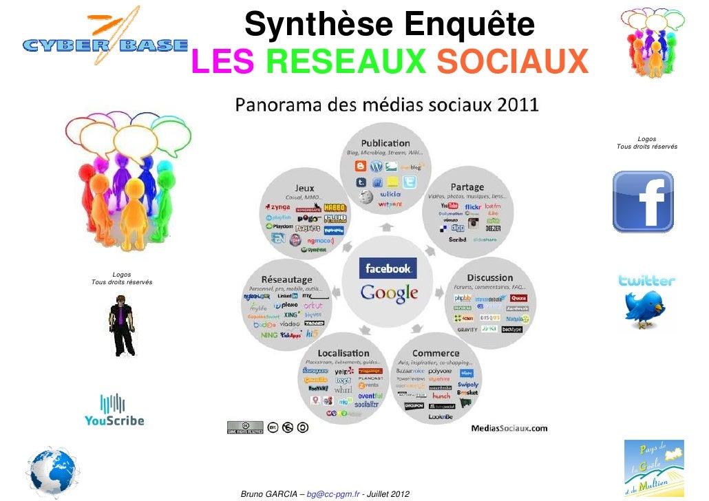 Synthèse Enquête                       LES RESEAUX SOCIAUX                                                                ...