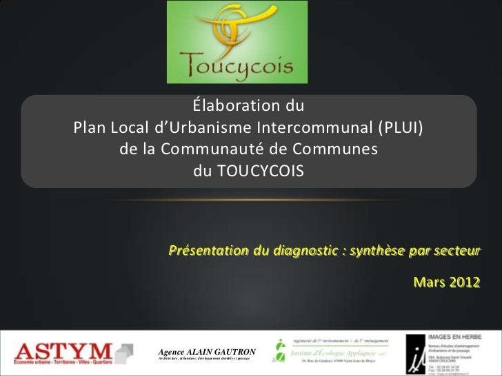 Élaboration duPlan Local d'Urbanisme Intercommunal (PLUI)      de la Communauté de Communes                du TOUCYCOIS   ...