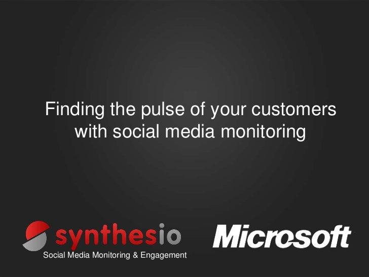 Synthesio Microsoft presentation at SMWF 2012