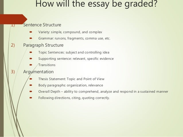 Synthesis essay structure