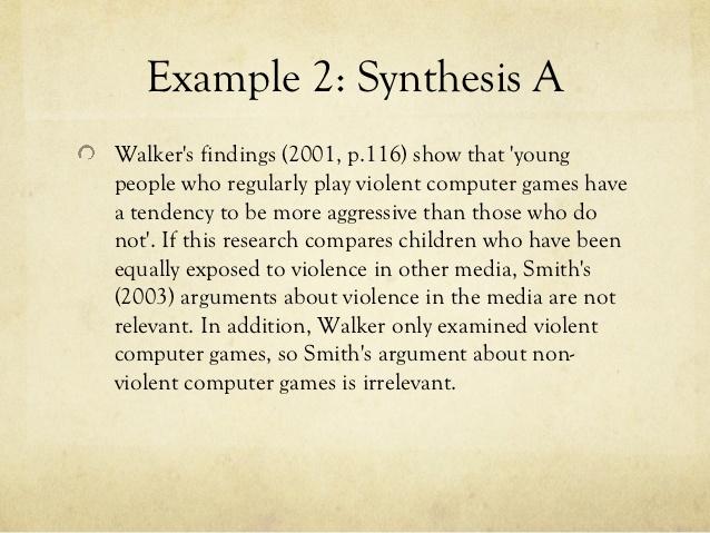 Synthesis essay conformity