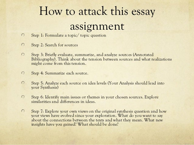 What Is A Synthesis Essay