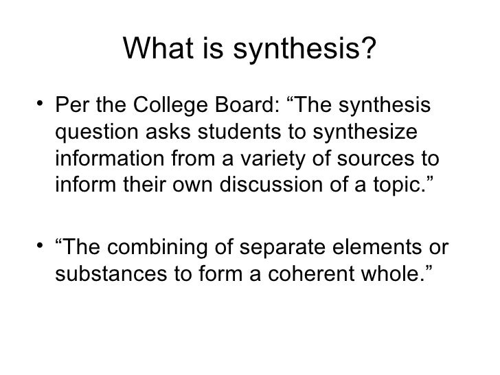 College board synthesis essay materials