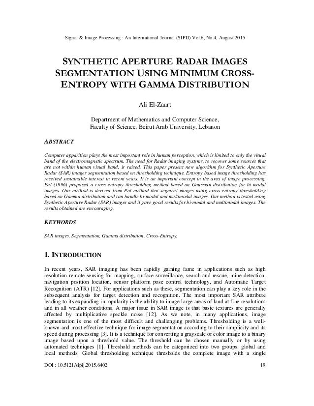 optimal synthetic aperture radar image detection essay Evaluation of synthetic aperture radar  synthetic aperture radar image generation from raw data is an application, which  because of its design of an optimal.
