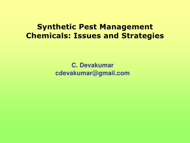 Synthetic pest management chemicals