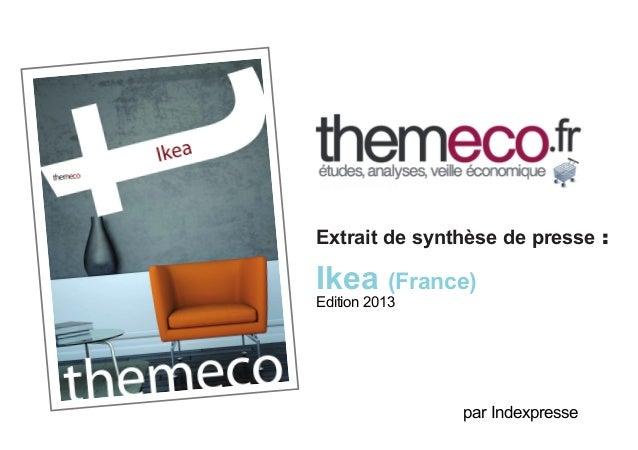 Extrait de synthèse de presse :  Ikea (France) Edition 2013  par Indexpresse