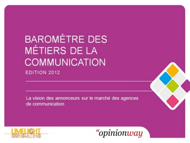 BAROMÈTRE DES               MÉTIERS DE LA               COMMUNICATION                Marché de la Publicité               ...