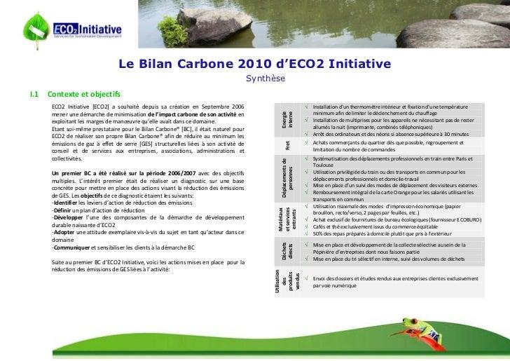 Synthèse BC_ECO2_2010