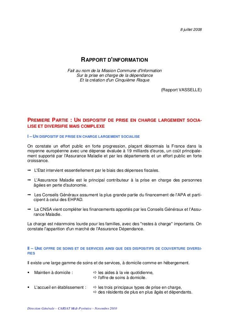 8 juillet 2008                                  RAPPORT DINFORMATION                         Fait au nom de la Mission Com...