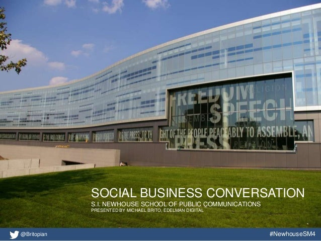 A Social Business Conversation With Newhouse