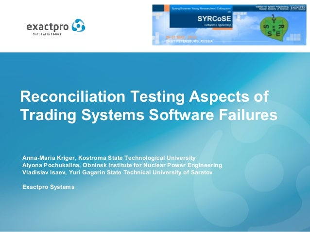 Software for backtesting trading systems