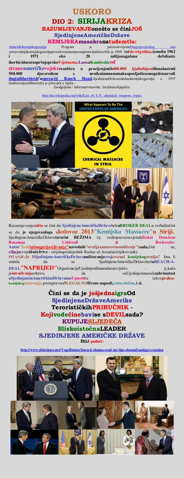 Syria crisis   (united states of america) chemical weapons attack (croatian)