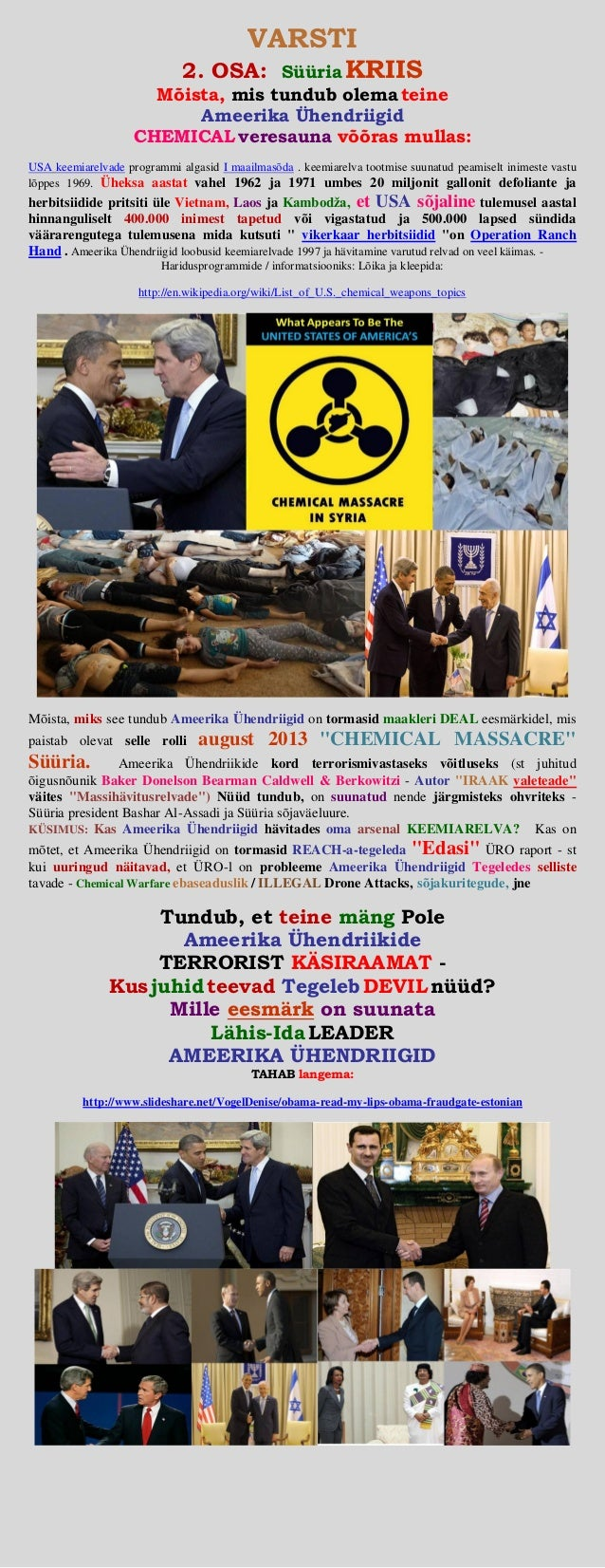 Syria crisis   (united states of america) chemical weapons attack (estonian)
