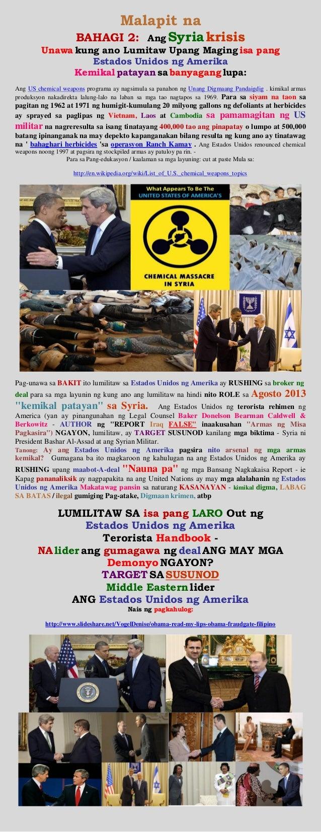 Malapit na BAHAGI 2: Ang Syria krisis Unawa kung ano Lumitaw Upang Maging isa pang Estados Unidos ng Amerika Kemikal patay...