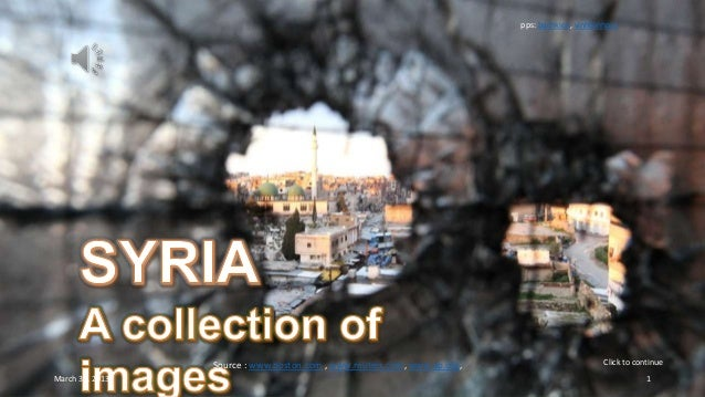 SYRIA - A collection of images
