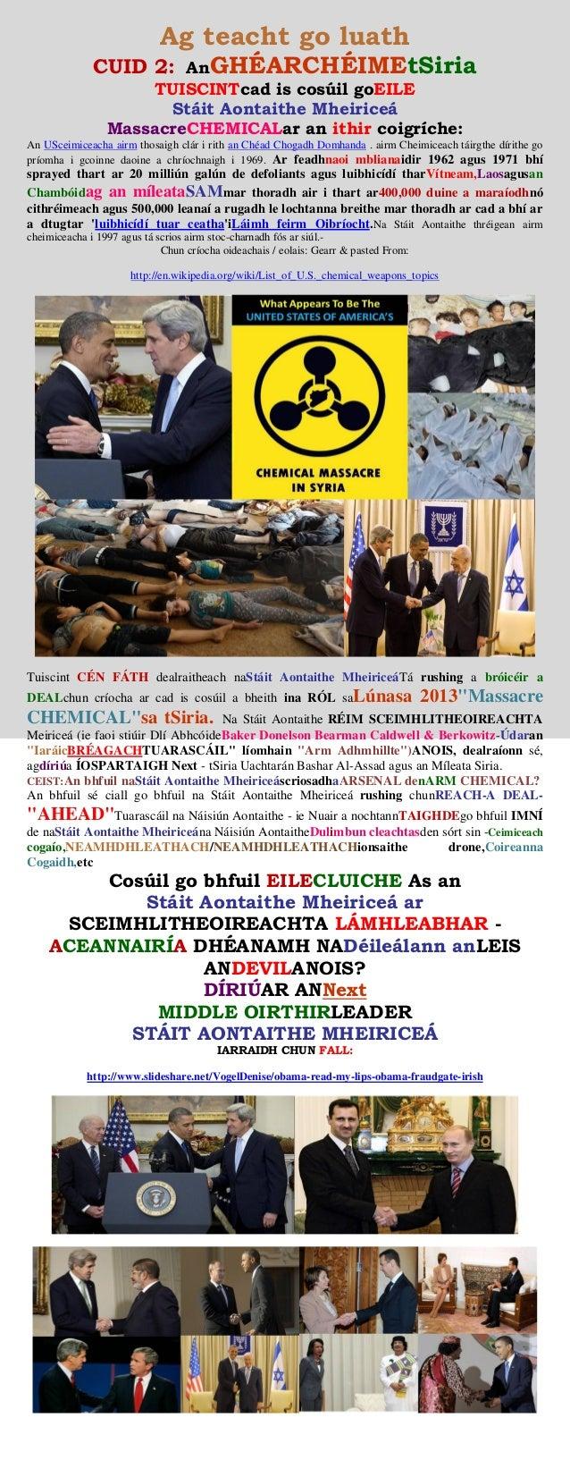SYRIA CRISIS - (USA) CHEMICAL WEAPONS ATTACK (irish)