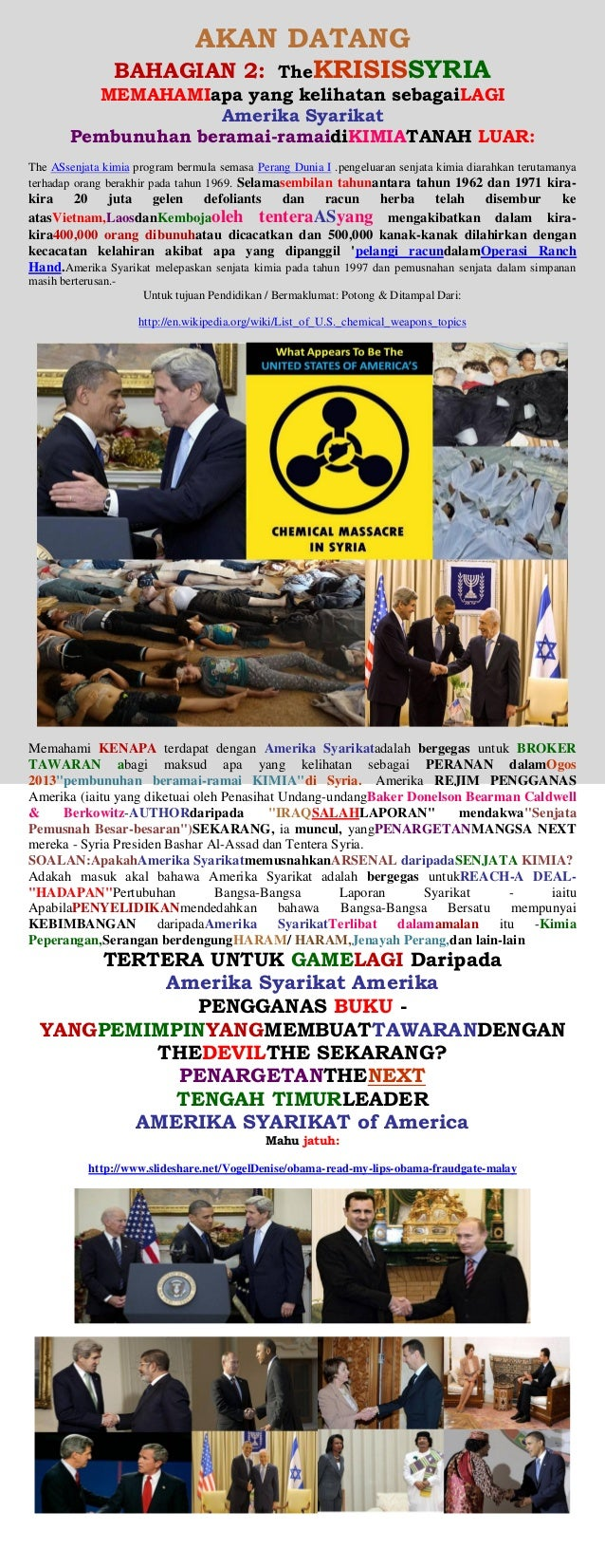 SYRIA CRISIS - (USA) CHEMICAL WEAPONS ATTACK (malay)