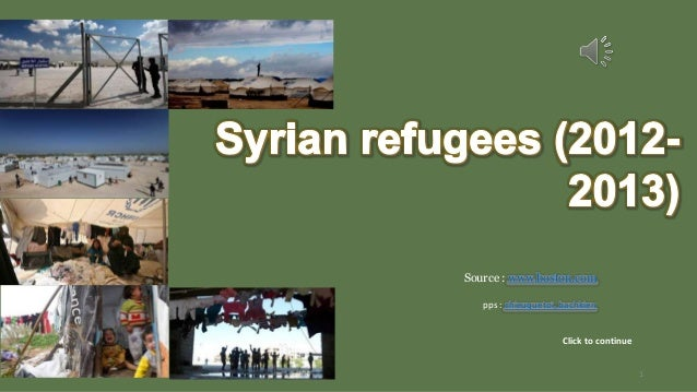 Syrian refugees (2012 -2013)
