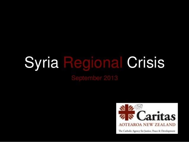 Syria Regional Crisis September 2013