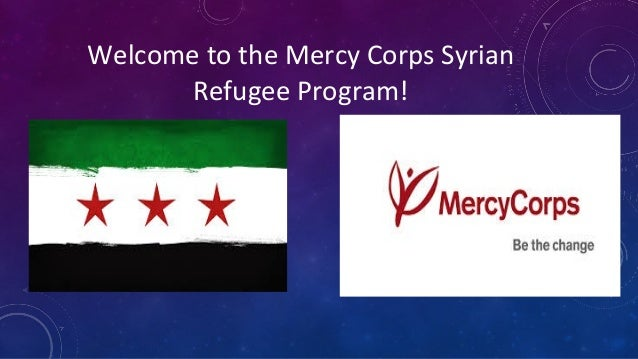 Welcome to the Mercy Corps Syrian Refugee Program!