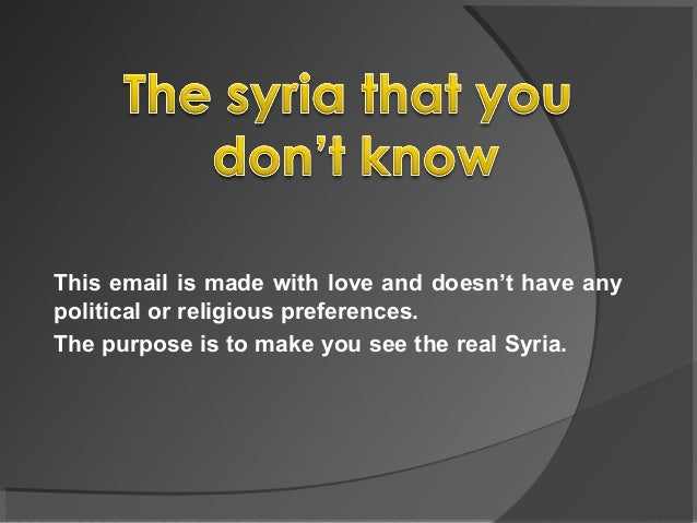 The Syria that you dont know