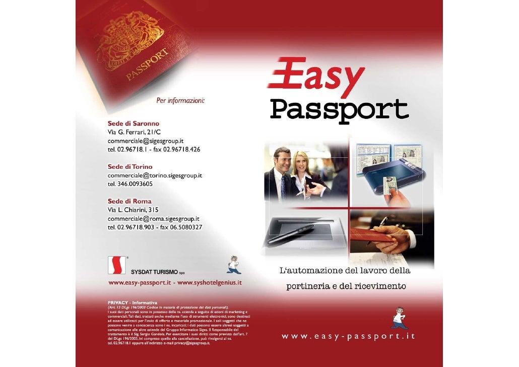 Easy Passport - L'automazione del lavoro della portineria e del ricevimento