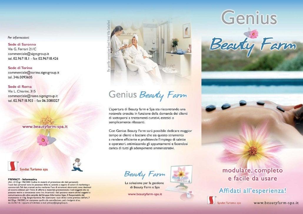 Genius Beauty Farm - La gestione del benessere