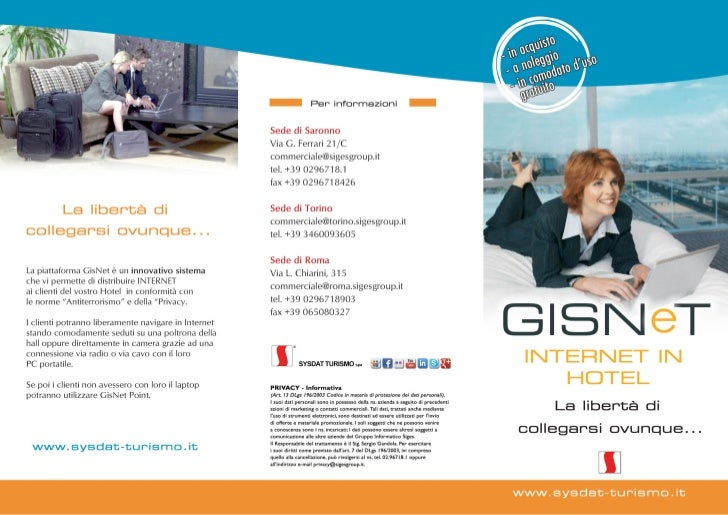 GisNet - punto internet in hotel