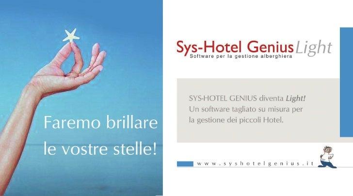 SysHotel Genius Light - La gestione per i piccoli hotel