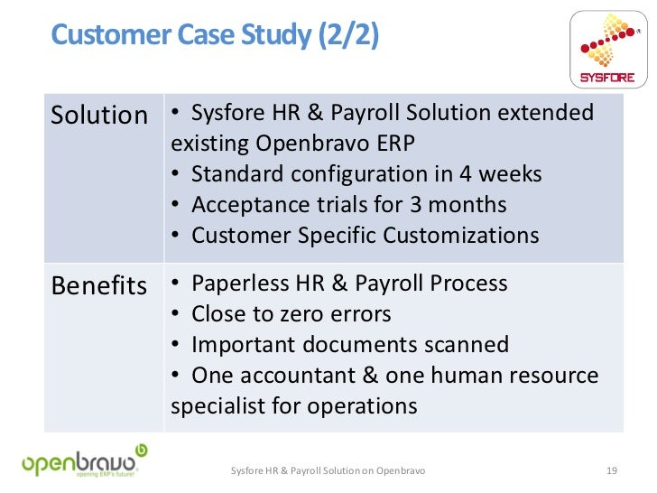 Hr case study with solution